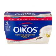 Dannon Oikos Toasted Coconut Vanilla Greek Yogurt