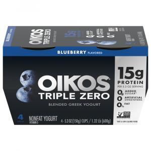 Oikos Triple Zero Blueberry Greek Yogurt