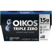 Dannon Oikos Triple Zero Blueberry Greek Yogurt