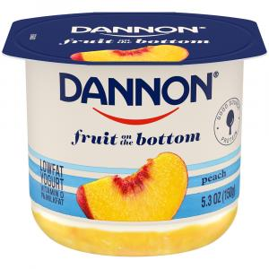 Dannon Fruit on the Bottom Peach Low Fat Yogurt