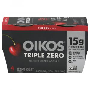 Dannon Oikos Triple Zero Cherry Yogurt