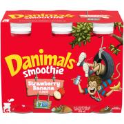 Dannon Danimals Strawberry Banana Smoothies