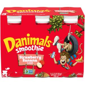 Dannon Danimals Strawberry Banana Smoothies