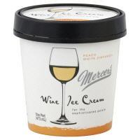 Mercer's Peach White Zinfandel Wine Ice Cream