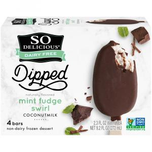 So Delicious Dipped Mint Swirl Bars