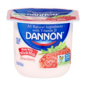 Dannon Traditional Whole Milk Strawberry Yogurt