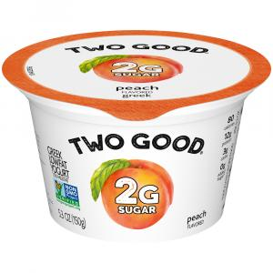 Dannon Two Good Peach Greek Yogurt