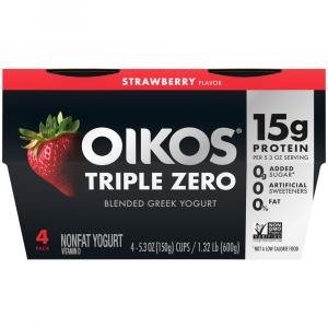 Dannon Oikos Triple Zero Strawberry Yogurt