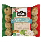 Cooked Perfect Spinach & Feta Chicken Meatballs