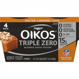 Dannon Oikos Triple Zero Salted Caramel Yogurt