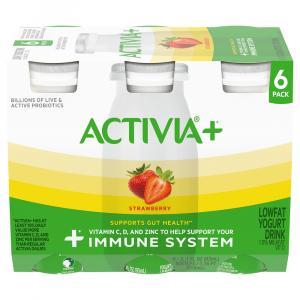 Activia Plus Strawberry Yogurt