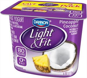 Dannon Light & Fit Pineapple Coconut Yogurt