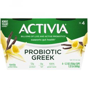 Dannon Activia Greek Vanilla Nonfat Yogurt