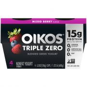 Dannon Oikos Triple Zero Mixed Berry Yogurt