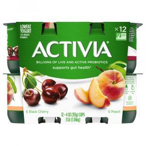 Activia Peach & Black Cherry Yogurt