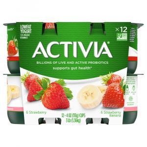 Activia Strawberry & Strawberry Banana Yogurt