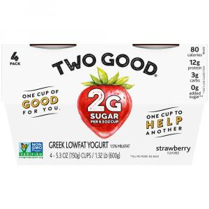 Dannon Two Good Greek Strawberry Yogurt