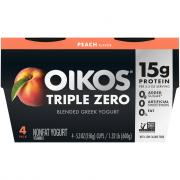 Dannon Oikos Triple Zero Peach Yogurt
