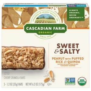 Cascadian Farm Organic Peanut Puffed Rice Chewy Granola Bars