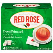 Red Rose Decaffeinated Tea Bags