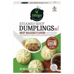 Bibigo Steamed Soup Dumplings Beef Bulgogi Flavor