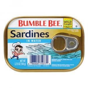 Bumble Bee Sardines In Water
