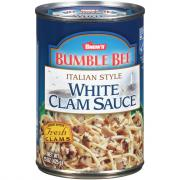 Bumble Bee Italian Style White Clam Sauce