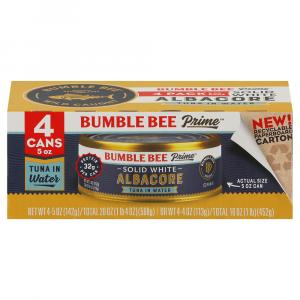 Bumble Bee Solid White Prime Tuna Fillets in Water 4 Pack