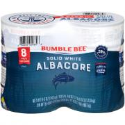Bumble Bee Solid White Albacore Tuna in Water 8 Pack