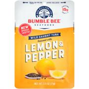 Bumble Bee Lemon & Pepper Seasoned Tuna