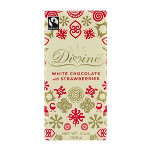 Divine White Chocolate With Strawberry Bar