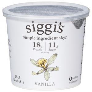 Siggi's Icelandic Skyr Vanilla Strained Non-Fat Yogurt