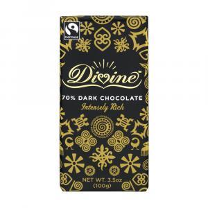 Divine Dark Chocolate 70% Cocoa Bar
