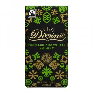 Divine Dark Chocolate Mint Crisp Bar