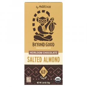 Madecasse Salted Almond 63% Dark Chocolate Bar