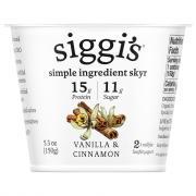 Siggi's Icelandic Skyr Vanilla Cinnamon 2% Yogurt