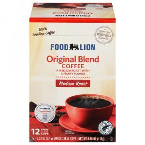 Food Lion Original Blend Coffee Single Serve Cups