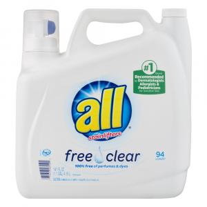 All 2x Free & Clear Liquid Laundry Detergent