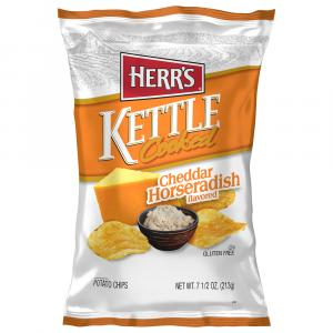 Herr's Kettle Cooked Cheddar & Horseradish Potato Chips