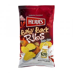 Herr's Baby Back Rib Potato Chips