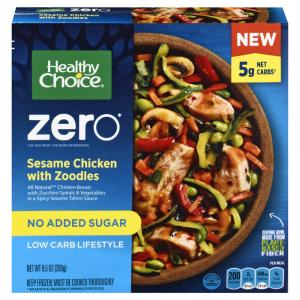 Healthy Choice Zero Sesame Chicken with Zoodles