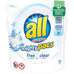 All Mighty Pacs Free & Clear Laundry Detergent