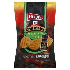 Herr's McCormick Grill Mates Roasted Garlic & Herb Chips