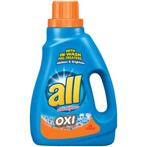 All 2x Oxi With Stainlifters Liquid Laundry Detergent
