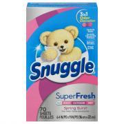 Snuggle Plus SuperFresh Spring Burst Fabric Softener Sheets