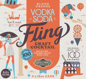 Boulevard Fling Vodka Soda Craft Cocktail