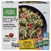 Healthy Choice Simply Steamers Spinach & Tomato Linguini