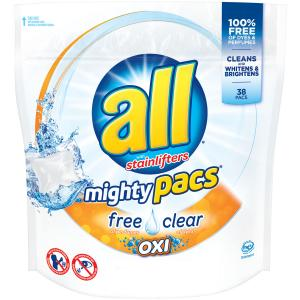 All Mighty Pacs Free & Clear Oxi Laundry Detergent