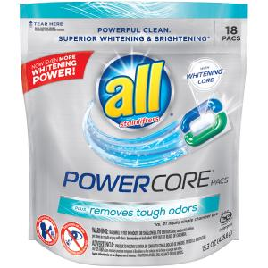 All Power Cores Pacs Stain Plus Laundry Detergent