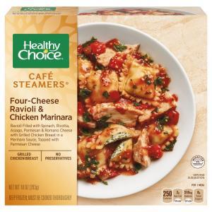 Healthy Choice Cafe Steamers Ravioli & Chicken Marinara
